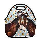 Bolsa de almuerzo portátil de neopreno con correa con cremallera, bolsa de transporte para picnic, viajes al aire libre, bolso de mano de moda, para mujeres, hombres, niños y niñas