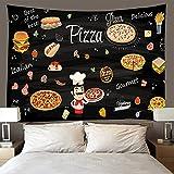 shuimanjinshan Tapiz Pizza Tapiz De Pared Decoración De La Habitación Sábana De Picnic Mantel 130X150Cm