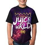 Hengtaichang Youth Cotton Round Neck Short Sleeve Printed Juice Wrld King 999 Logo T Shirt Top Tee for Boys Girls