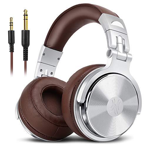 OneOdio DJ モニターヘッドホン pro-30 オーバーイヤー ヘッドフォン 密閉型 低音強化 着脱式ケーブル 映画...