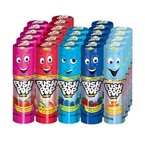Push Pop Candy Assortment in Bulk 12 Ounce Pack of 24