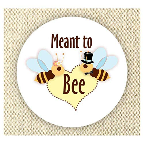 Meant to bee Stickers - Thank you favor stickers - Wedding Stickers - Anniversary Stickers - Set of 40 stickers
