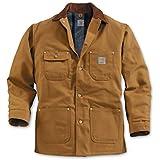 Carhartt Men's Duck Chore Coat Blanket Lined C001,Brown,XX-Large