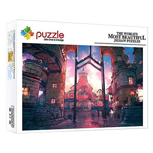 FFGHH Jigsaw Puzzle Puzzle 1000 Piezas Puzzle Adulto De 1000 Piezas Puzzles Madera Ciudad De Anime Decoración del Hogar para Adultos Amigo Y Niños 20.47In X 14.96In