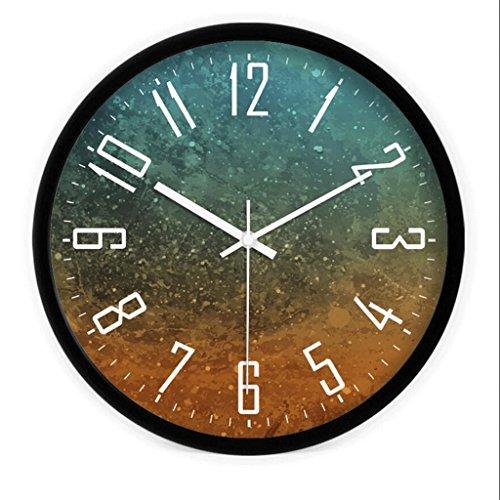 GAOLILI Personnalité de mode créative Table suspendue Chambre Salon Mute Clock ( Couleur : Noir )