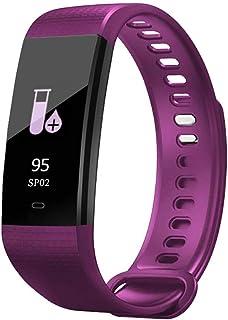 WHSN Pulsera Actividad, Pulsera Inteligente con Pulsómetro Impermeable IP67 Presión Arterial Reloj Inteligente para Mujer Hombre Niños Podómetro Deportiva Reloj para Android iOS