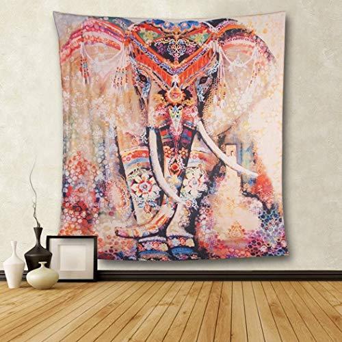 Goldbeing Elefant Wandteppich mit Böhmischem Stil, Indisch Hippie Wandbenhang Wandtuch Tabelle Vorhang Wand Decor Tisch Couch Bezug Picknick Decke Beach Vertikal Überwurf (153 x 203cm, Style 3)