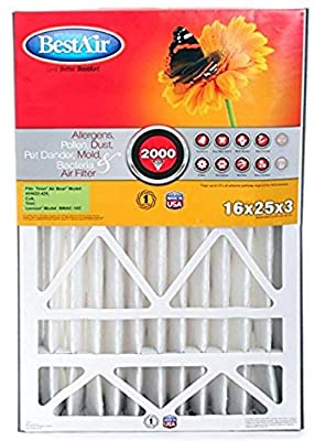 BestAir AB1625-11R AC Furnace Filter