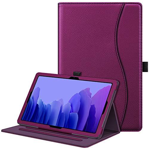 Fintie Hülle für Samsung Galaxy Tab A7 10,4 2020, Multi-Winkel Betrachtung Folio Schutzhülle mit Auto Schlaf/Wach, Dokumentschlitze für Galaxy Tab A7 10.4 Zoll SM-T500/T505/T507, Lila