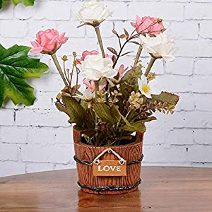 Artificial and Dried Flower 1Set Flower + Vase Silk Flower Roses Dahlias Artificial Flowers Artificial Flower Wedding Home Party Decoration