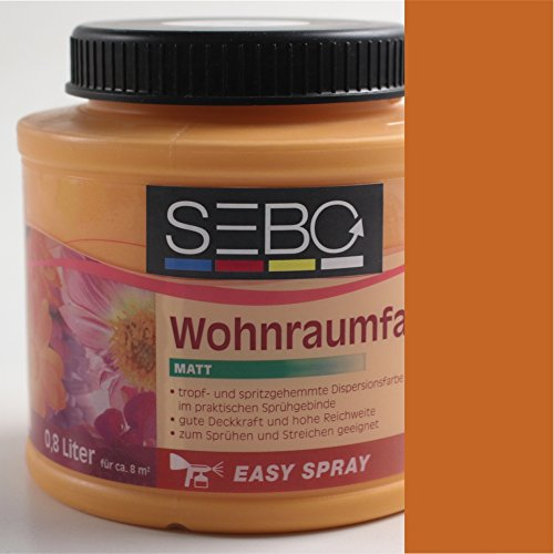 0,8l SEBOPRO Wohnraumfarbe SALSA Innenfarbe Wandfarbe Orange