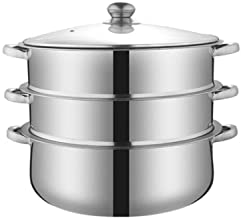 HJRD Stainless Steel Multi-purpose Steamer, Household Stoves Are Suitable, Steamer, Three-layer Steamer, Large, Steamed Fi...