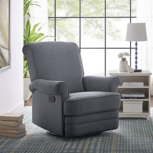 Classic Brands Manhattan Swivel Reclining Glider Chair, Grey