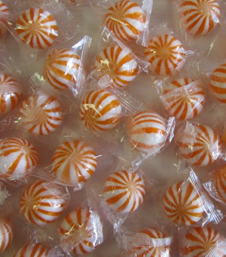 Orange n White Crazy Candy Balls 1 Pound
