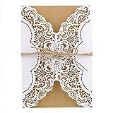 Tarjeta de Felicitación 30 pcs/set de lujo laser corte imprimible invitaciones de boda tarjetas sobre elegante cumpleaños tarjeta de felicitación Kits fiesta decoración