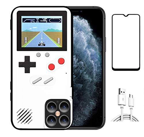 JTMall is Suitable for Samsung Galaxy Note 10 Plus Classic Handheld Game Console Mobile Phone case, Free Samsung Galaxy Note 10 Plus Screen Protector, 36 Mini Games to accompany You