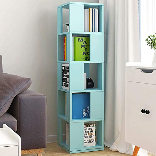 XM&LZ Floor Standing Bookshelf, Multi-animal 360掳 Rotating Book Rack Creative Spinning Design Display Shelf Open Corner Shelf For Home-greena 34x34x160cm(13x13x63inch)