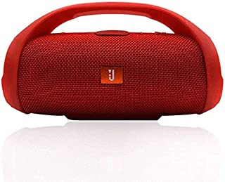 KJRJLY Bluetooth Speaker, Wireless Speaker Audio Mobile Power, 6 Hours Playback Time, Subwoofer Card Bluetooth Mini Speaker Riding/Home/Outdoor (Color : Red)