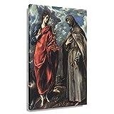 El Greco Poster, Motiv: St. John der Evangelist und St.