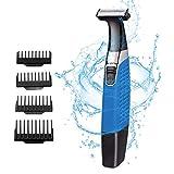 Barba Trimmer, Wet and Dry - Maquinilla de afeitar eléctrica para hombre, recargable por USB, removedor de vello corporal