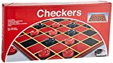 Pressman Checkers -- Classic Game With Folding Board and Interlocking Checkers