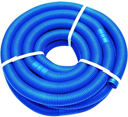 well2wellness® Poolschlauch 32mm - Blauer Schwimmbadschlauch - 9 Meter