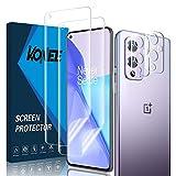 KONEE 【2 + 2 Stück Bildschirmschutzfolie Kompatibel mit OnePlus 9 + Kamera Panzerglas, [Anti-Kratzen, Fingerabdruck Kompatibel] Flexibler TPU Schutzfolie für OnePlus 9