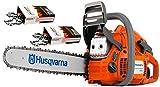 Husqvarna 445e-Series II (50cc) Cutting Kit Includes Chainsaw, 18' Bar/Chain Plus 3 WoodlandPRO Chain Loops