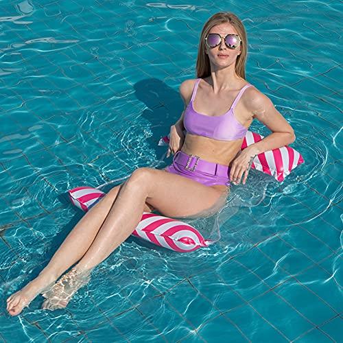 BDBY Silla Flotante Inflable de Verano Flotante Flotante, Playa de la Playa de Adultos salón de la Silla de Agua, natación portátil Sofá de sillón de Hamaca D