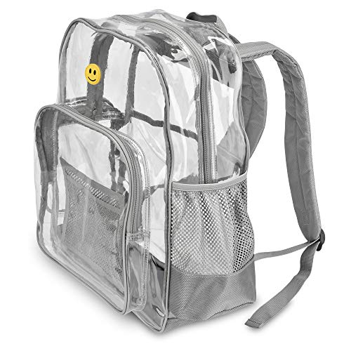 """Extra-Large Clear Transparent Backpack by PLANET MADE FAMILY 