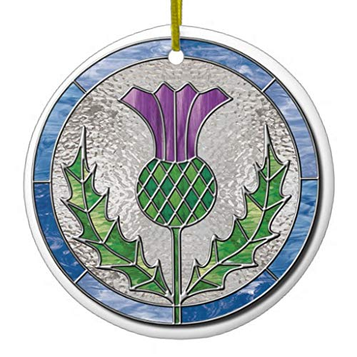 happygoluck1y Glass Thistle Christmas Tree Ornaments,2020 Christmas Ornaments,Christmas Memory Keepsake Ornament,for Kids,Girls,Women,3' Double Sided Print