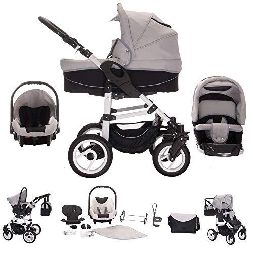 Bebebi Paris | 3 in 1 Passeggini compatti per bambini set completo | ruote ad aria | Colore: Concord