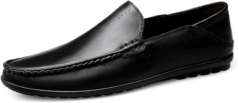 Easy Go Shopping Penny Loafers Für Mnner Klassische Atmungsaktive Leichte Echtes Leder Business Casual Rutschfeste Flache Schuhe Vegan Slip-on Runde,Grille Schuhe