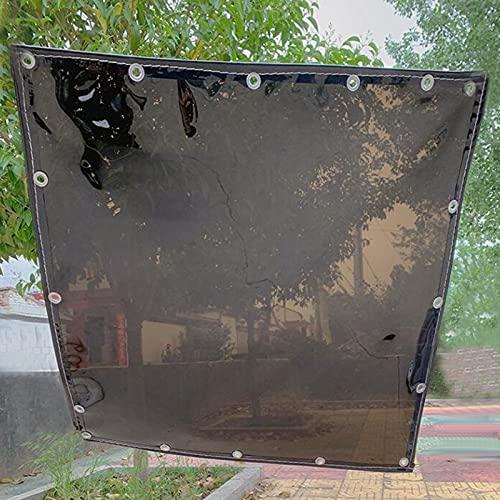 JTDSQDC Lona Transparente,Lonas Impermeables Exterior Transparente Prueba De Lluvia Anti Congelación Proteccion Solar Paño De Sombra con Ojales para Jardín Roof Cobertizo,0.5 * 1.5M/1.6 * 4.9FT