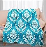 Mantas Invierno Graffiti Geométrico Azul - 3D Suave Cálida Manta Impresión Manta Franela de Felpa Soft Cálidas - Multiuso de Manta Bebe-para sofá de Oficina y Dormitorio,130x150 cm