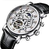 QZPM Männer Automatischen Uhr-Mode-Diamond Dial Multi-Funktions-Wasserdichten Mann-Mechanisches Geschäft Uhren, Schwarz