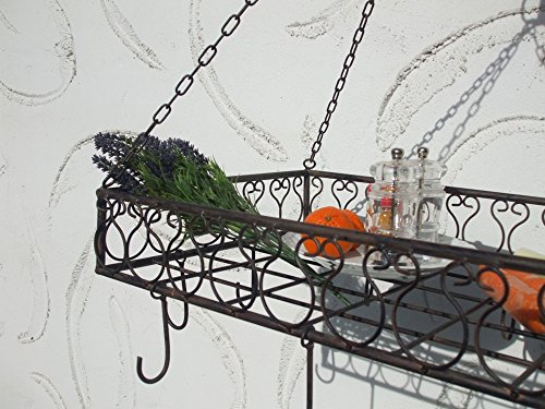 Deko-Impression Bezaubernder Küchenhänger, Hängekorb, Kräuterhänger, Regal, Eisen