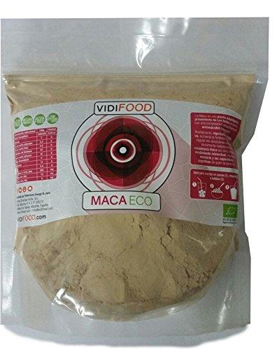 Maca ECO en Polvo - 1kg - Fuente de Aminoácidos, Fibra y Vitaminas - Alta calidad - 100{1e6dcc6456a7c75b4ae77a088dab9962638fa8c84687980bb22b0d36e3a6b6ee} Natural - Superalimento Saludable para Musculación y Recuperación, Aumenta la Energía y niveles Hormonales.