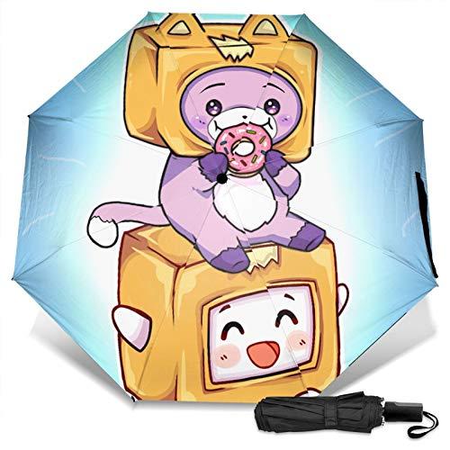 Rocky Justin juguete de peluche educación Lanky-box Boxy y Foxy niños niñas impermeable paraguas de viaje reforzado toldo de secado rápido doble ventilación 2020 regalos Golf, bolsillo Pascua