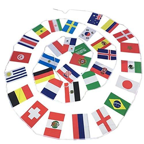 LUOEM 2018 Coppa del Mondo Ghirlanda 32 bandierine per Decorazione