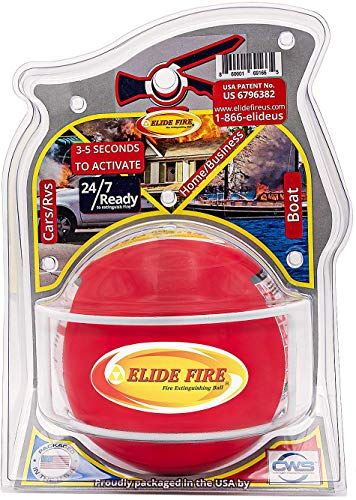 Elide Fire Ball, Self Activation Fire Extinguisher, Fire Safety Product, 5 Year warranty. The only patented and insured...