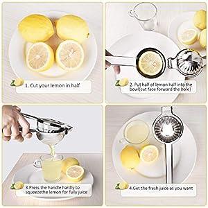 Lemon Squeezer Handheld Citrus Press Juicers Squeezer CWM Stainless Steel 304 Lime Juice Squeezer Heavy Duty Hand Manual… |