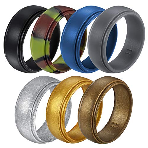 Untouchble Silicone Wedding Ring for Mens Rubber Wedding Bands for...
