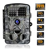 Trail Camera, 0.2s Trigger Time 16MP 1080P Wildlife Scouting Camera, Waterproof 120° Wide