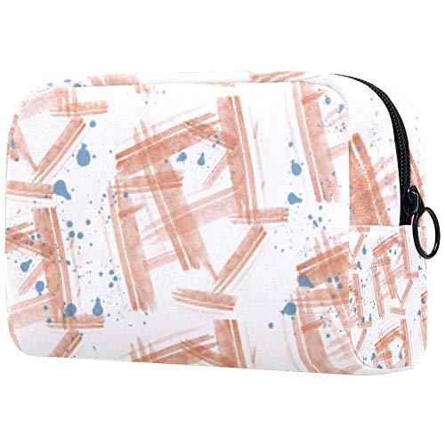 Trousse de toilette portable pour femme, trousse de maquillage, sac à main, organiseur de voyage en bois orange