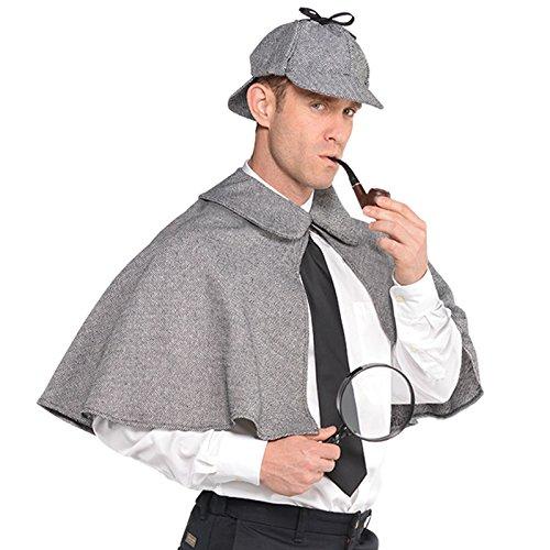 amscan 9901812 - Juego de Disfraz de Sherlock Holmes, 2 Piezas