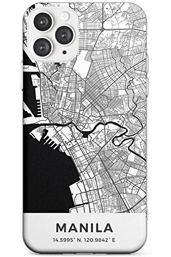 Case Warehouse Karte Von Manila, Philippinen Schlank Handykette Hülle für iPhone 11 Pro | Clear Silikon TPU Schutz Leicht Ultra dünn Hülle Muster Printed | Reise Fernweh Europa Stadt Streets
