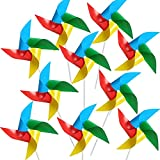 TYPHEERX 10 piezas de plástico molino de viento para decoración de jardín, césped, arco iris