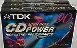 TDK CD Power 90 High Energy Performance Audio Cassette Tapes - 3 Pack