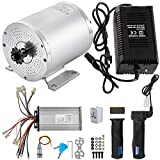 BestEquip 500 Watts 36 Volt Brushless Motor 2800 RPM Electric Scooter Motor Kit with Speed Controller and Key Lock Throttle Charger for Mini Bike Quad and Go-Kart